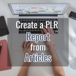 How I Created a PLR Report from Articles
