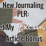 New Journaling PLR With My Bonus