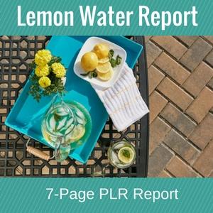 Lemon Water Report